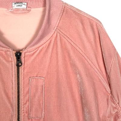 shirring blouson pink